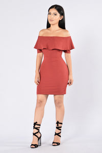 Reality Star Dress - Wine