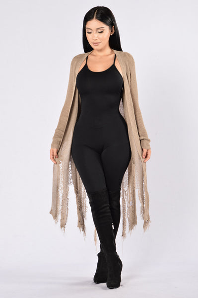 Shready or Not Cardigan - Mocha