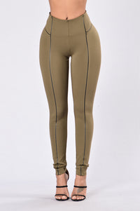 All The Time Leggings - Olive