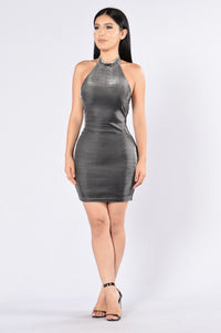 Hotel Party Dress - Silver