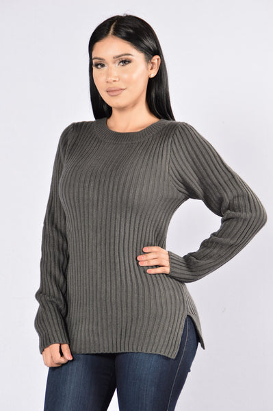 Get At It Sweater - Charcoal