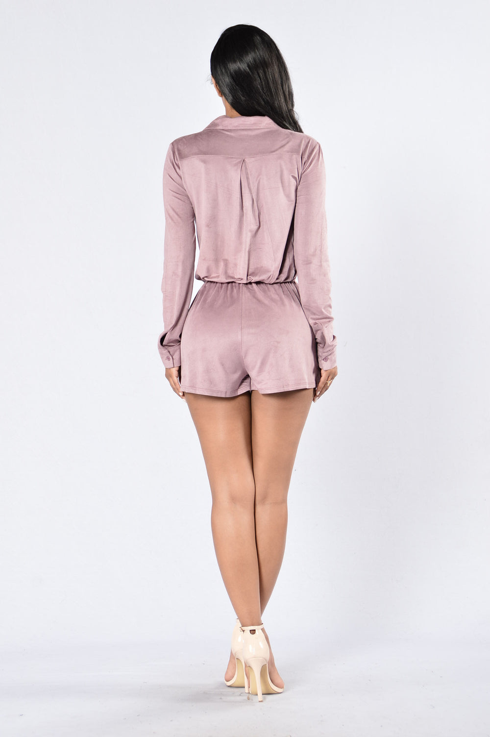 Kiss On The Cheek Romper - Mauve