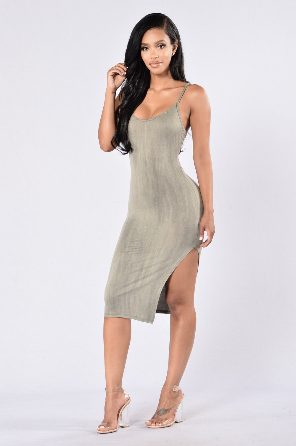 It Takes Two Dress - Olive