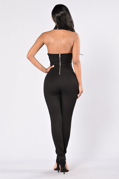 Not Worried Jumpsuit - Black