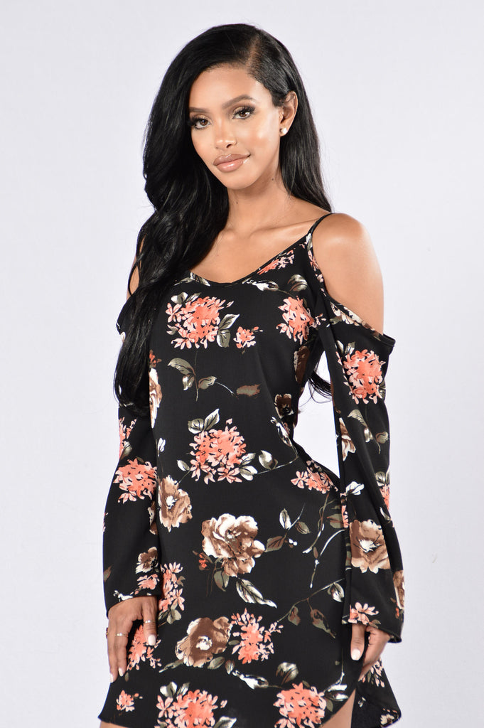 Enchanted Garden Dress - Black