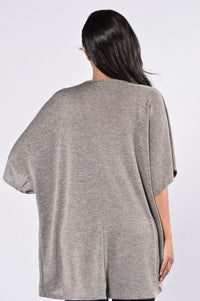Say Goodbye Kimono - Heather Grey