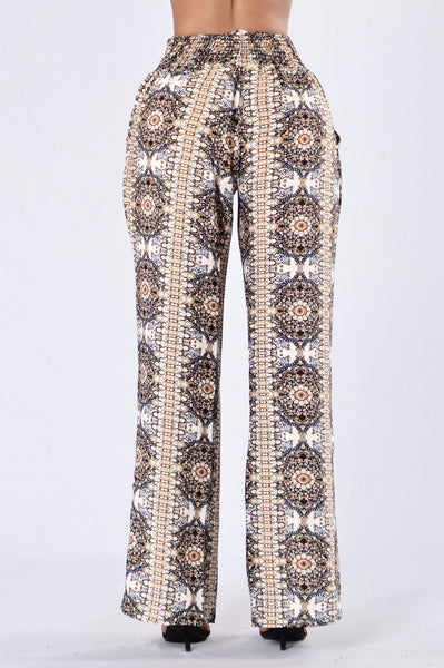 Holiday in the Sun Pants - Taupe Multi