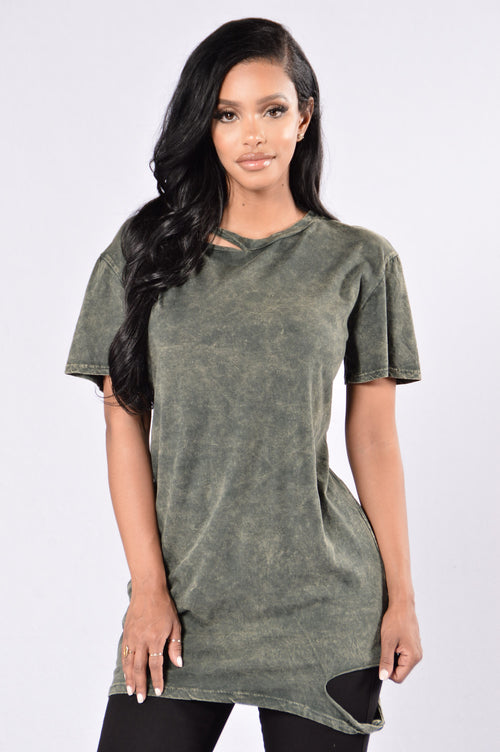 Chip Off The Old Block Tee - Olive