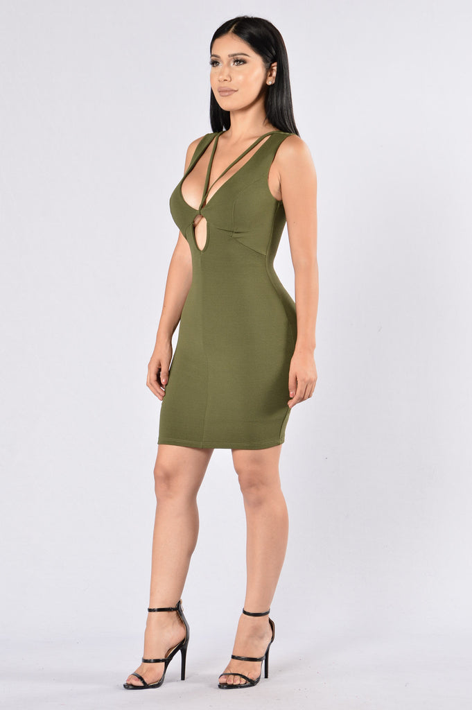 Lose My Breath Dress - Olive