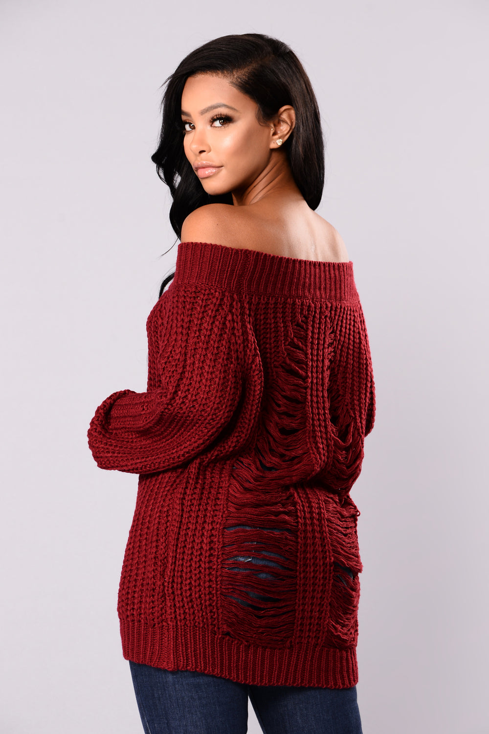 I'll Never Let Go Sweater - Burgundy