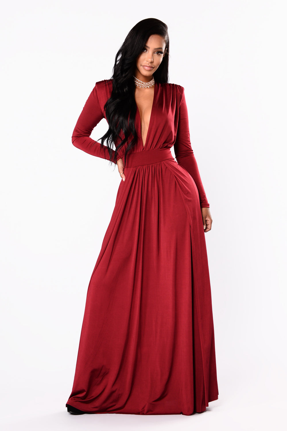 Spree Dress - Burgundy