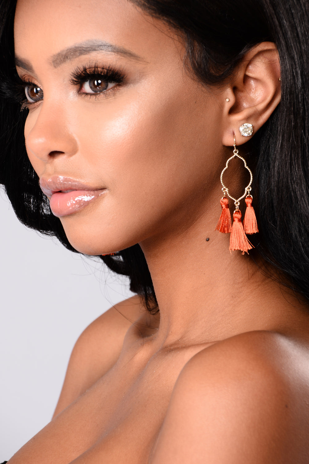 Adilah Earrings - Rust