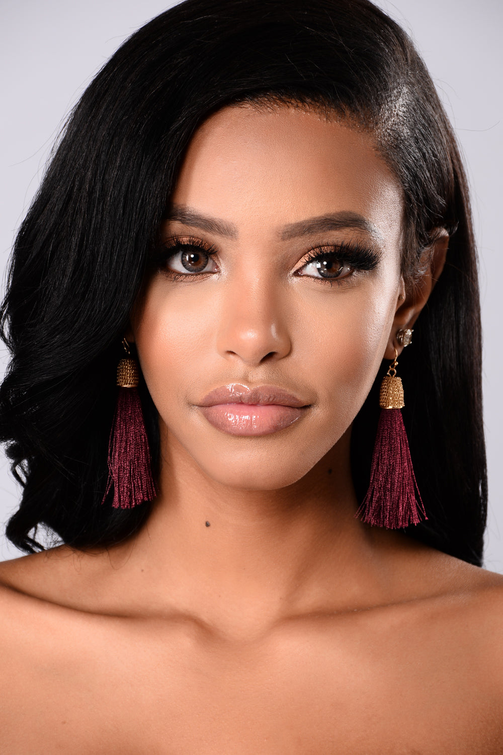 Tassel Me Crazy Earrings - Burgundy