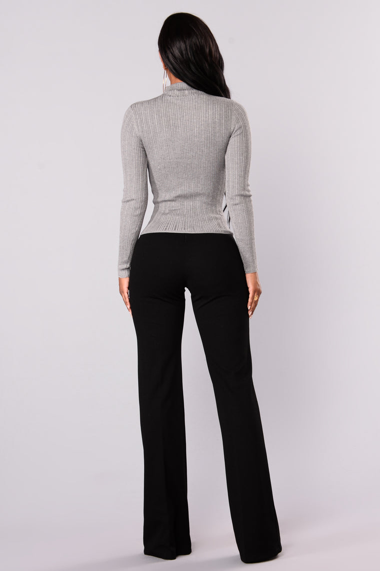 Baldwyn Long Sleeve Sweater - Heather Grey
