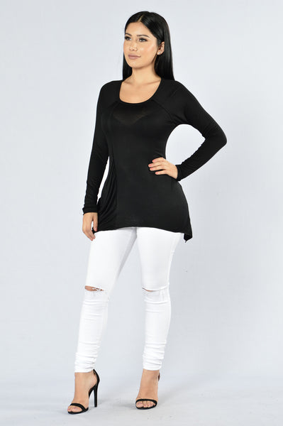 All Over The Place Top - Black