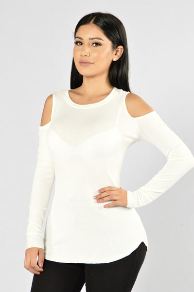 Thunder And Lightning Top - Ivory