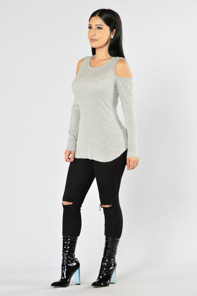 Thunder And Lightning Top - Heather Grey