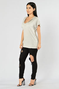 Step Up Tee - Silver