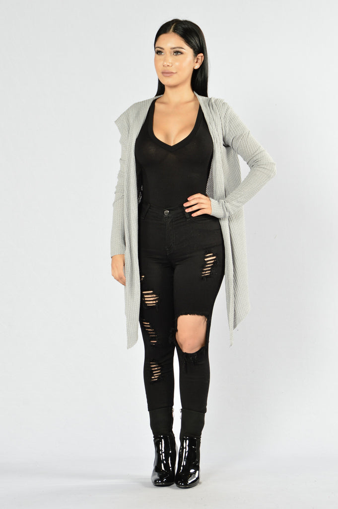 It's My Lazy Day Cardigan - Heather Grey