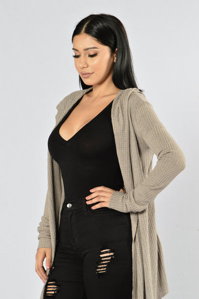 It's My Lazy Day Cardigan - Mocha