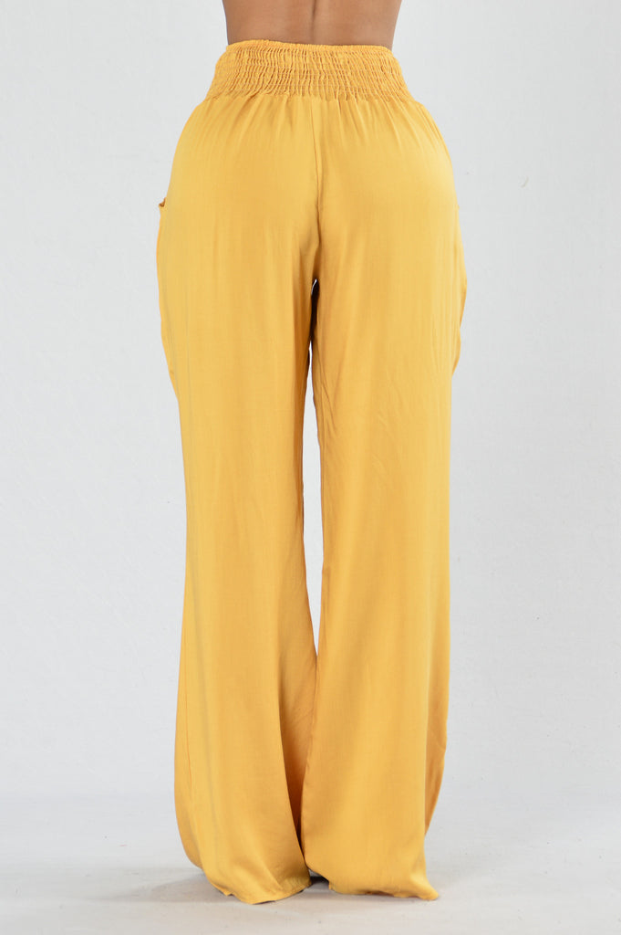 Holiday In The Sun Pants - Dijon