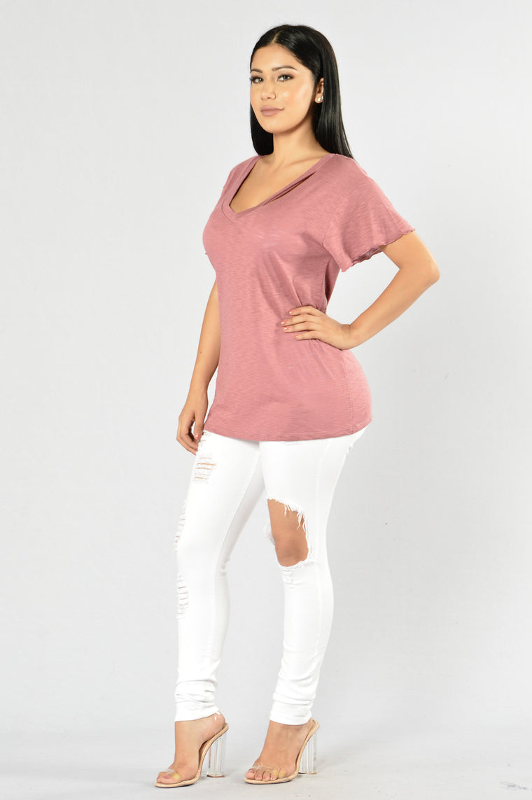 Step Up Tee - Mauve