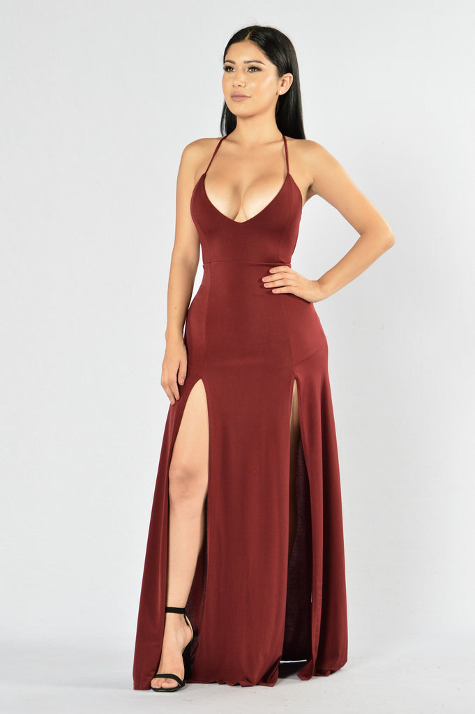 Dream of Me Dress - Burgundy