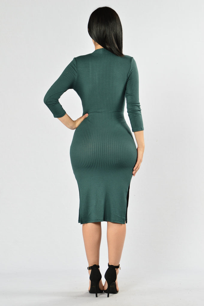 One Love Dress - Hunter Green