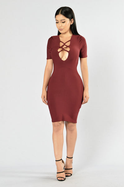 Avenger Dress - Burgundy
