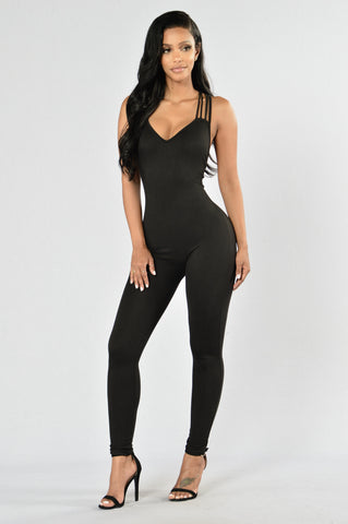Out Of My Way Jumpsuit - Black