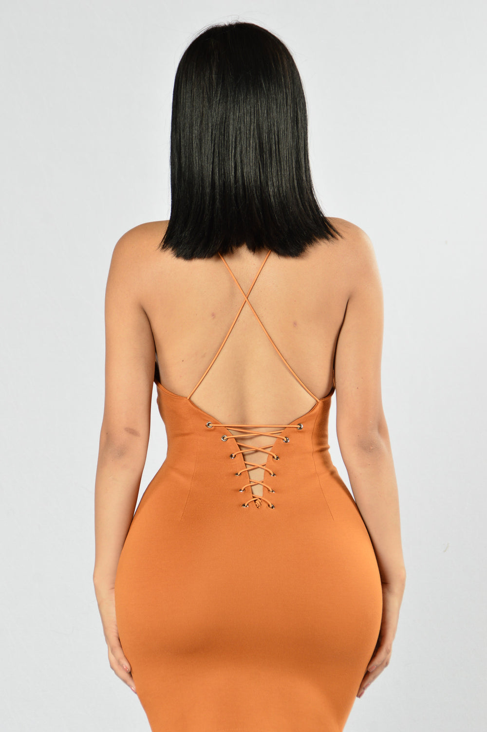 Love To Watch Me Leave Dress - Cognac