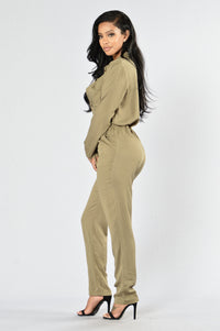 Top Notch Jumpsuit - Olive
