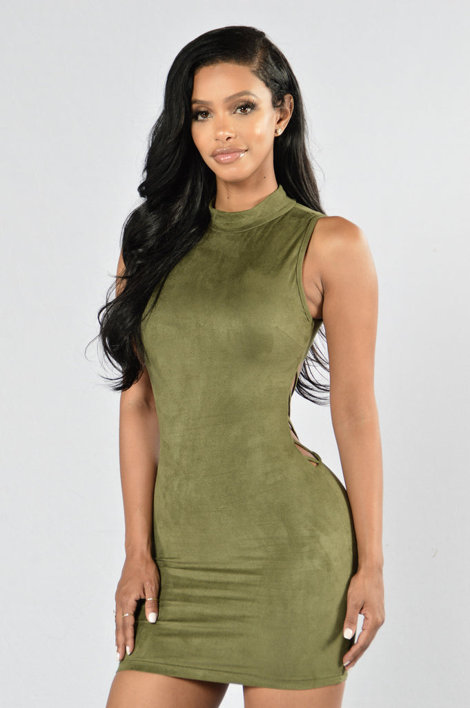 Backlash Dress - Olive