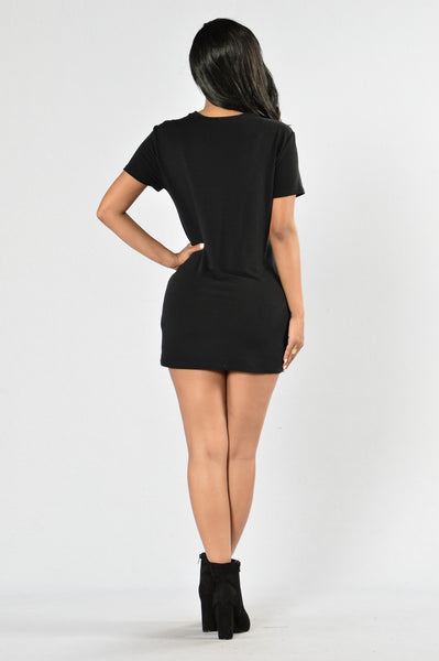 Strung Out Tunic - Black