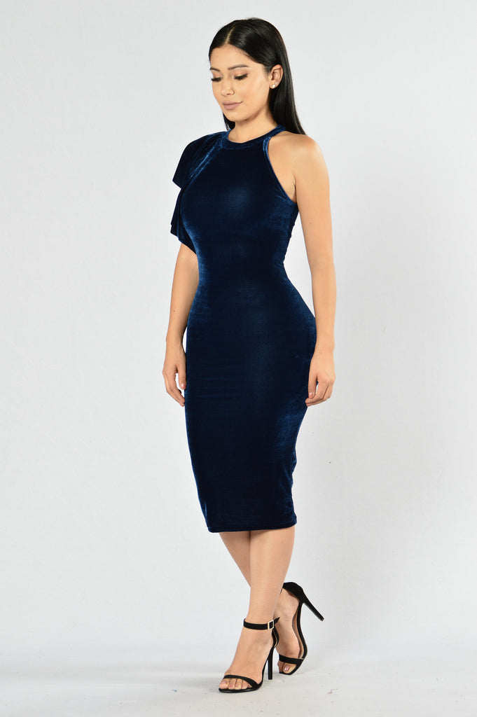 Turn On The Charm Dress - Gucci Blue