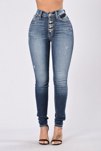 On The Record Jeans - Dark Blue