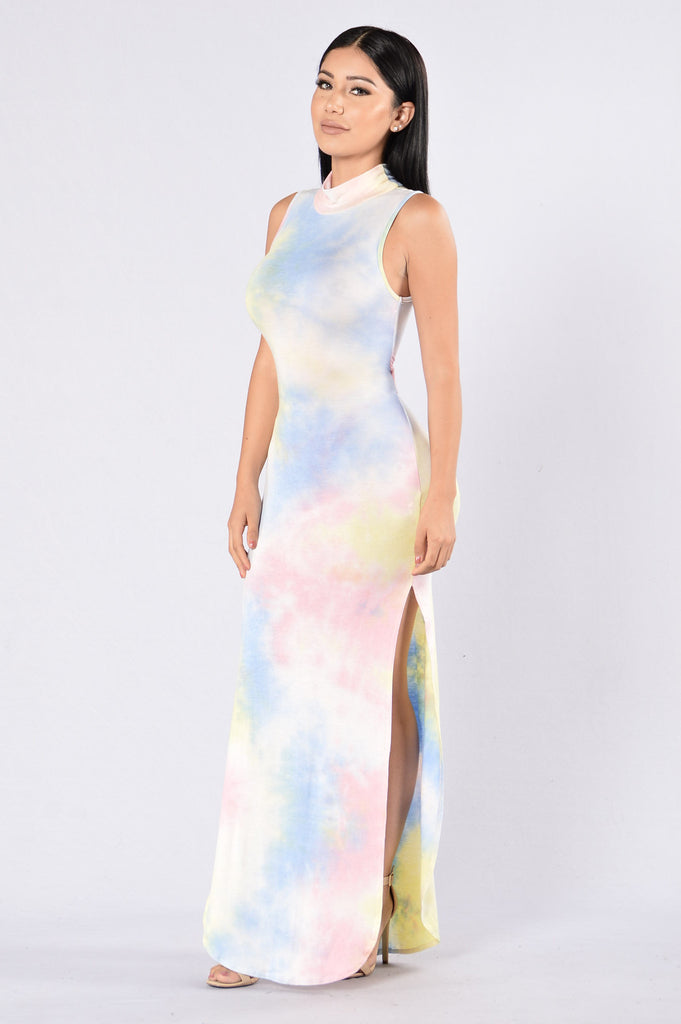 Don't Kill My Vibe Dress - Pastel