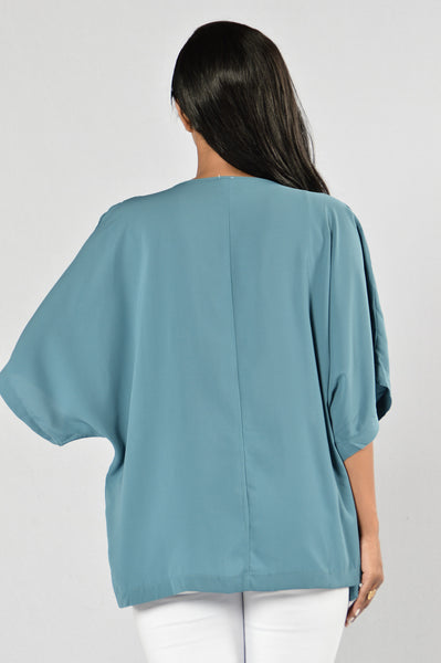 Easy As Can Be Kimono - Teal