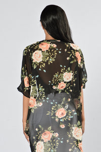 You Can't Hurry Love Kimono - Black