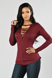 Rush Hour Top - Burgundy