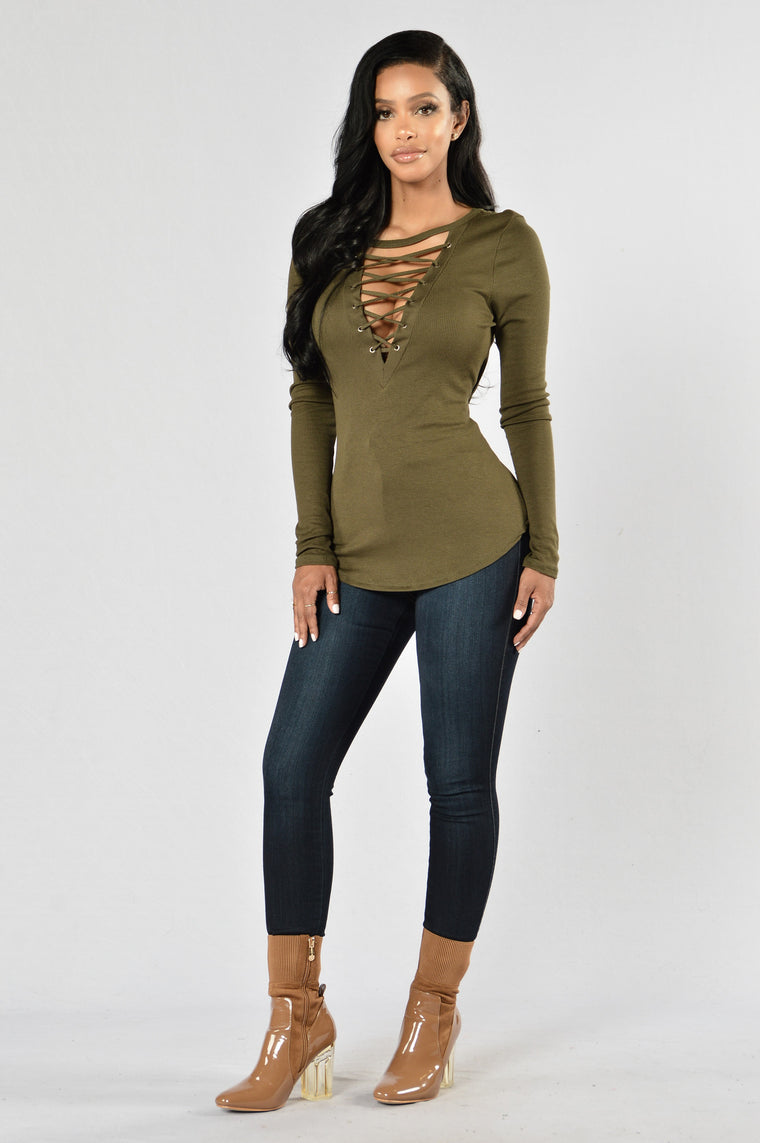 Rush Hour Top - Olive
