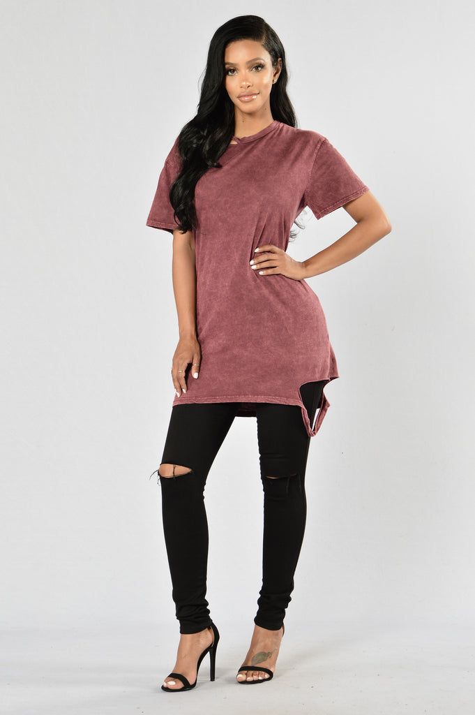 Chip Off The Old Block Tee - Burgundy