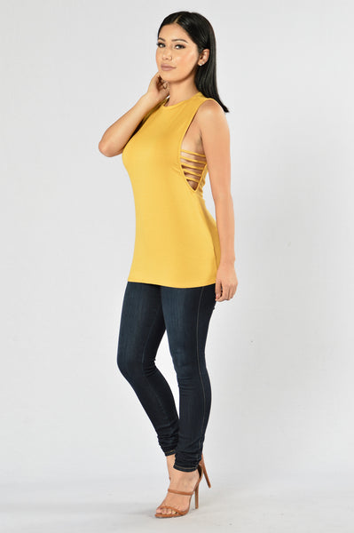 Hasty Tank Top - Mustard
