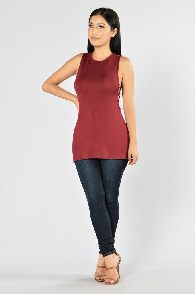 Hasty Tank Top - Burgundy