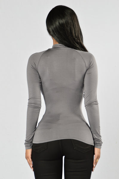 Too Good Top - Charcoal