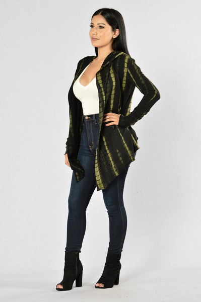 Beach Town Cardigan - Olive