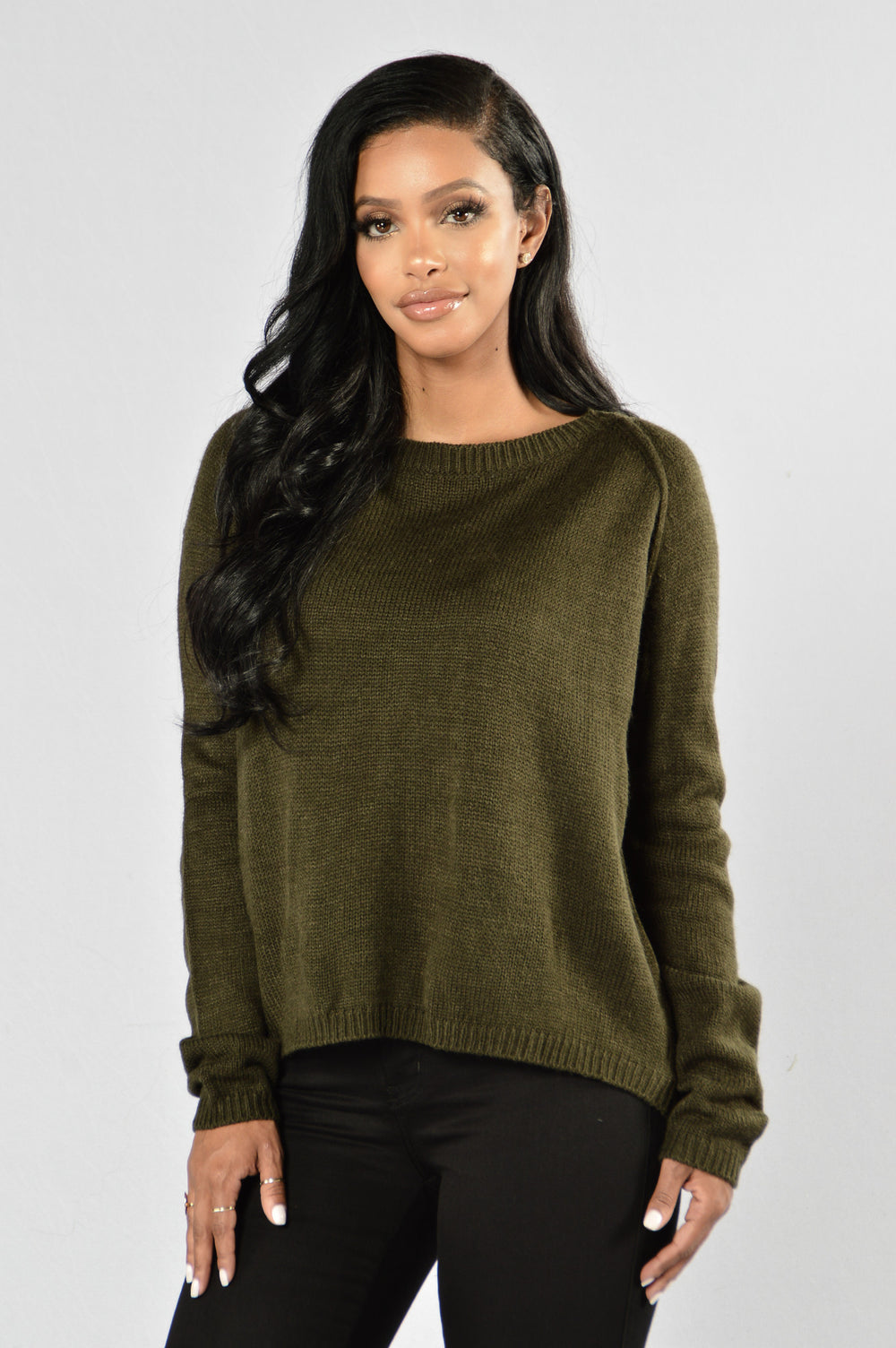 Don't Take Me Off Sweater - Olive
