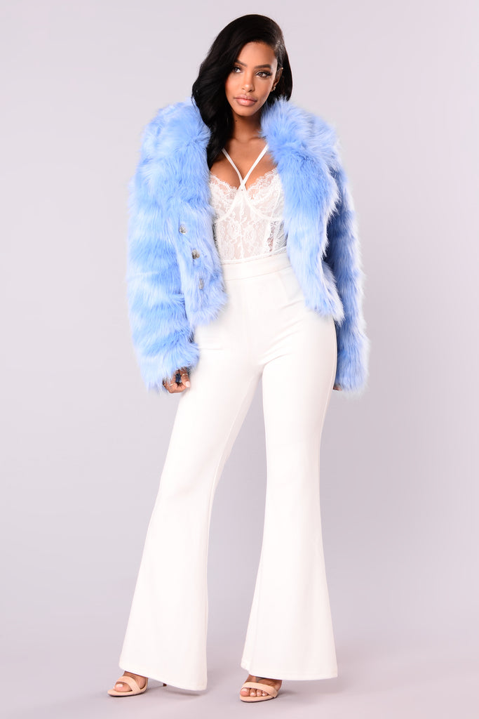 Baby Blues Faux Fur Jacket Blue