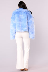 Baby Blues Faux Fur Jacket - Blue