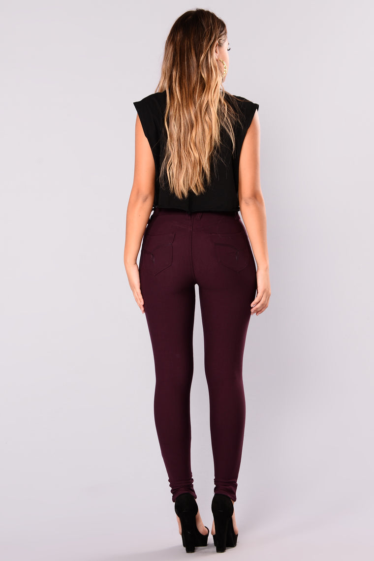 Rosemary Booty Lifting Pants - Plum